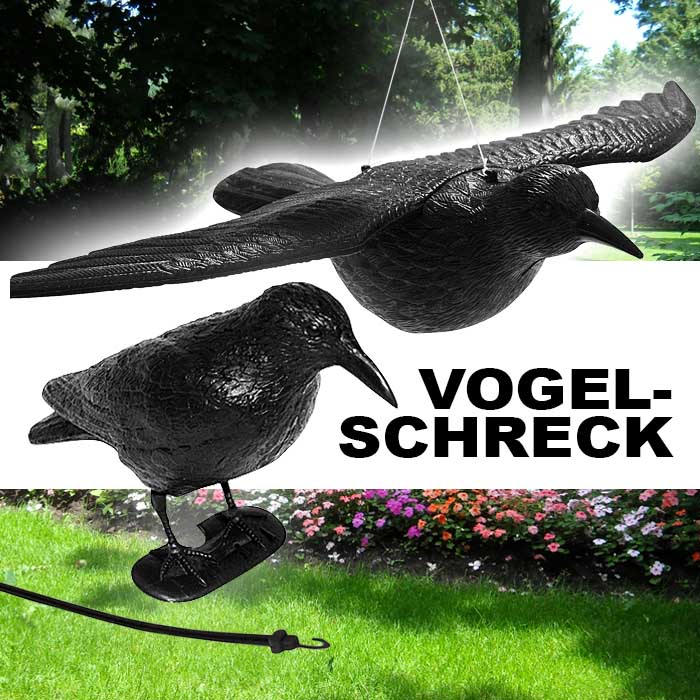 neu vogelschreck rabe kr he taubenschreck vogelabwehr taubenabwehr garten vogel ebay. Black Bedroom Furniture Sets. Home Design Ideas