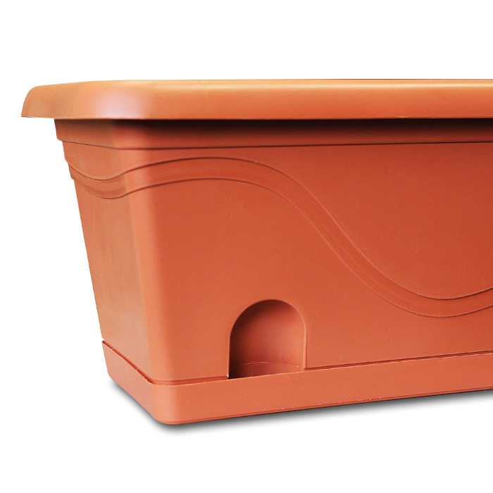 blumenkasten mit wasserspeicher balkonkasten blumentopf. Black Bedroom Furniture Sets. Home Design Ideas