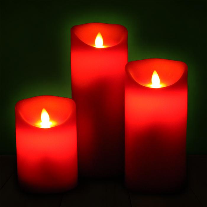 led kerze echtwachs flammenlose wachskerze timer deko kerzen rot in 3 gr en neu. Black Bedroom Furniture Sets. Home Design Ideas