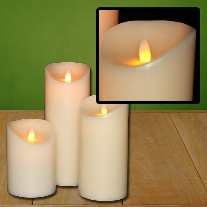 led kerze echtwachs flammenlose wachskerze timer deko. Black Bedroom Furniture Sets. Home Design Ideas