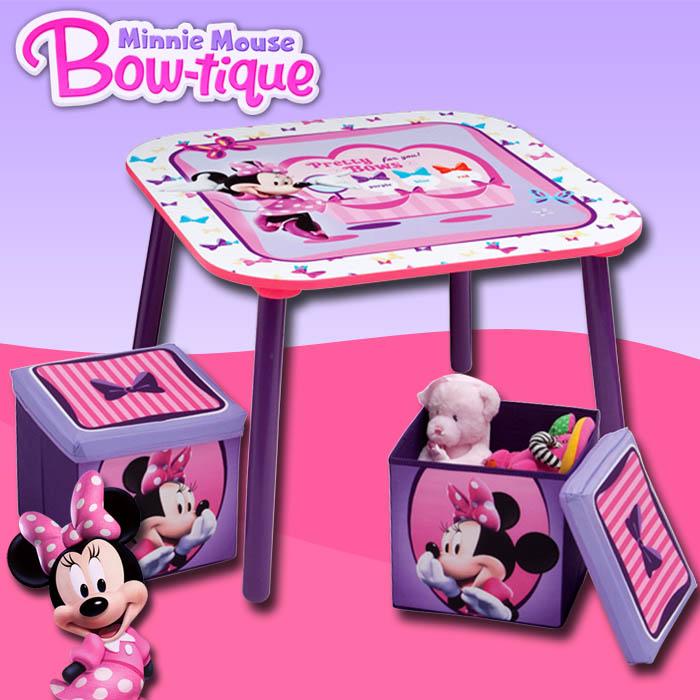 disney minnie kindersitzgruppe kinder sitzgruppe tisch hocker kindertisch m bel ebay. Black Bedroom Furniture Sets. Home Design Ideas