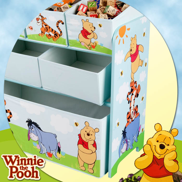 ausstellungsst ck aufbewahrungsregal disney winnie spielzeugregal kinder regal ebay. Black Bedroom Furniture Sets. Home Design Ideas