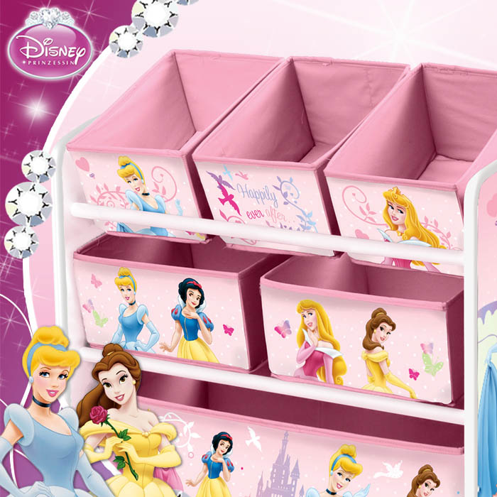disney princess kinder aufbewahrungsregal regal spielzeugkiste spielzeugtruhe ebay. Black Bedroom Furniture Sets. Home Design Ideas