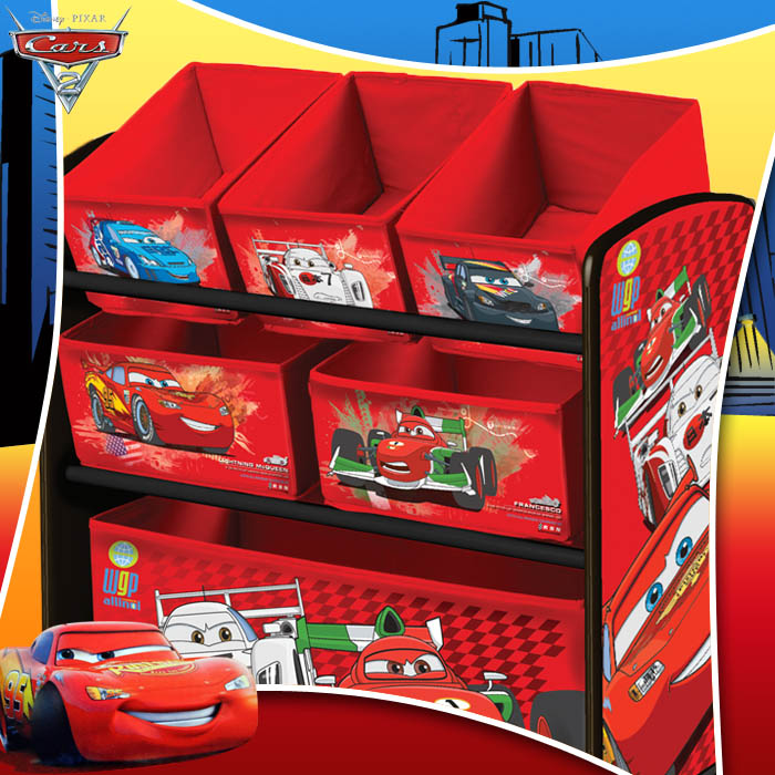 ausstellungsst ck aufbewahrungsregal disney cars spielzeugregal kinder regal ebay. Black Bedroom Furniture Sets. Home Design Ideas