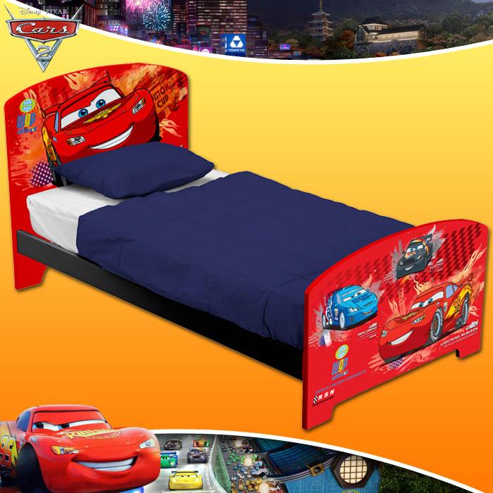 Disney pixar cars 2 kinderbett kinder jugendzimmer bett for Jugendzimmer jungen ohne bett