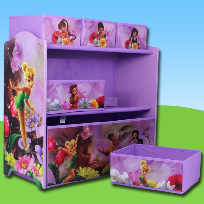 aufbewahrungsregal disney tinkerbell feen regal spielzeugkiste spielzeugtruhe ebay. Black Bedroom Furniture Sets. Home Design Ideas