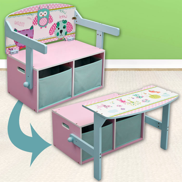 3in1 kinderbank sitzbank kinderm bel schreibtisch kiste kinder truhe holz bank ebay. Black Bedroom Furniture Sets. Home Design Ideas