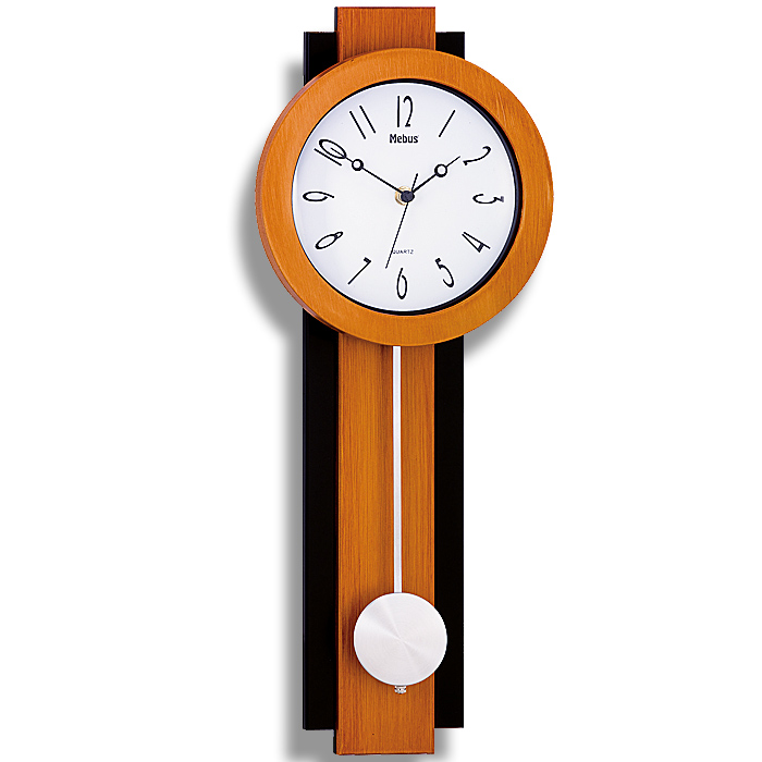 neu moderne pendeluhr wanduhr quarz uhr mit pendel pendeluhren design wanduhren ebay. Black Bedroom Furniture Sets. Home Design Ideas