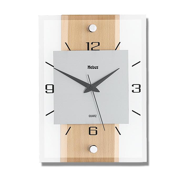 quarz wanduhr aus glas design quarzuhr wand uhr eckig glasuhr uhren dekoration ebay. Black Bedroom Furniture Sets. Home Design Ideas