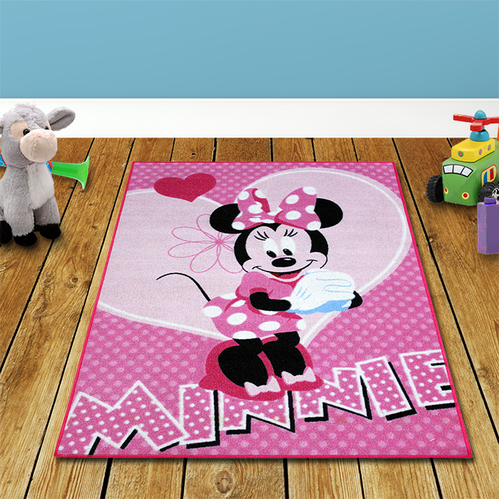 disney minnie mouse spiel teppich 133x95cm prinzessin spielteppich kinderteppich ebay. Black Bedroom Furniture Sets. Home Design Ideas