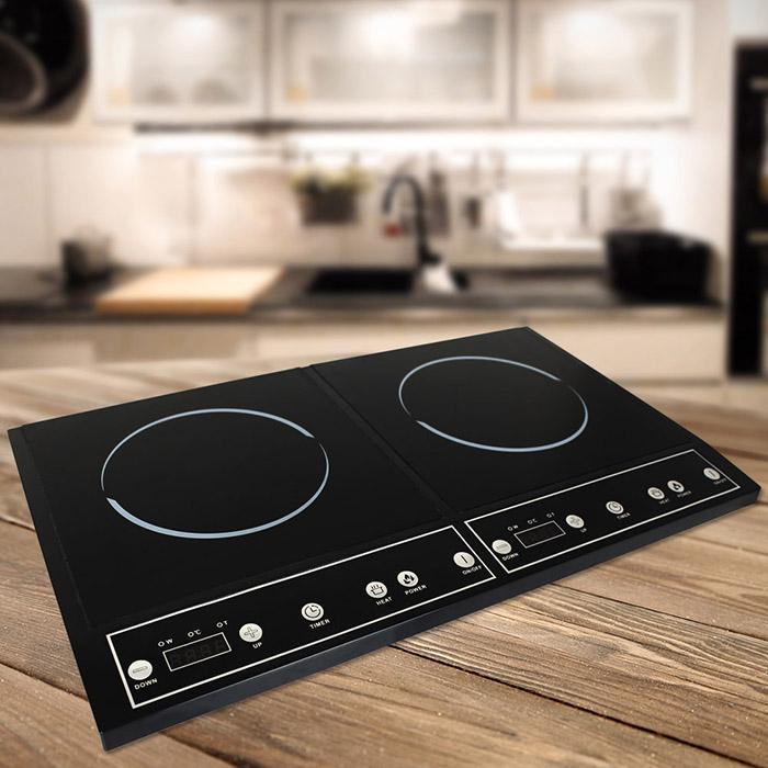 2x induktionskochplatte doppel kochplatte platte kochfeld. Black Bedroom Furniture Sets. Home Design Ideas