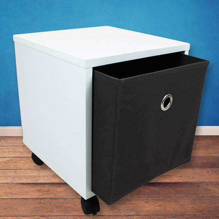 w rfelregal box regal rollen tisch nachttisch nachtkommode kommode aufbewahrung ebay. Black Bedroom Furniture Sets. Home Design Ideas