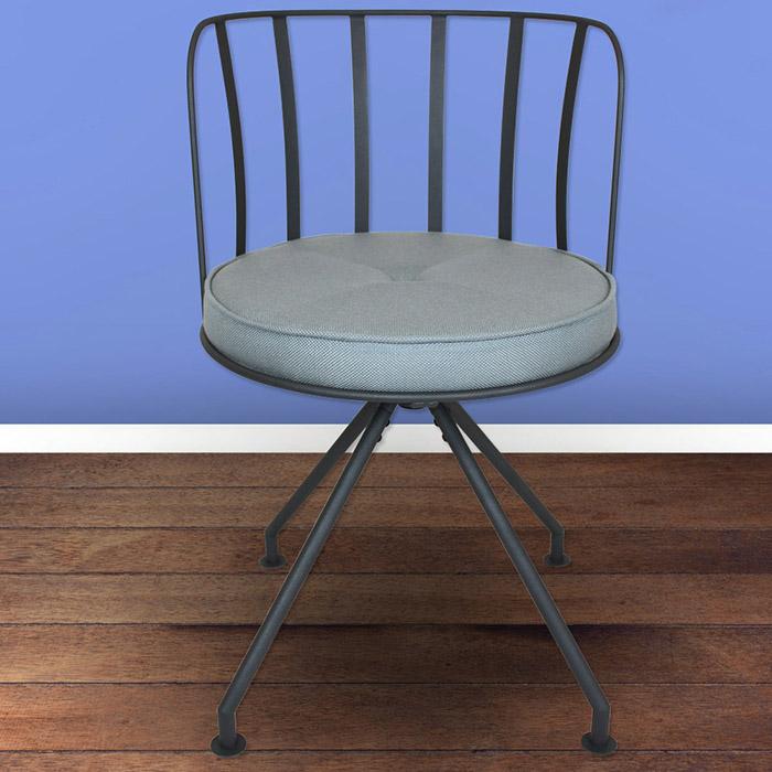 Design drehstuhl metall stuhl sessel b ro b rostuhl for Design stuhl metall