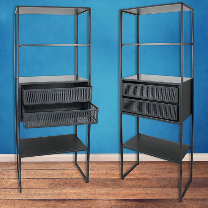 wandregal metall regal b roregal metallregal kellerregal lagerregal werkstatt ebay. Black Bedroom Furniture Sets. Home Design Ideas